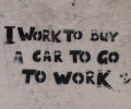 I work to buy a car